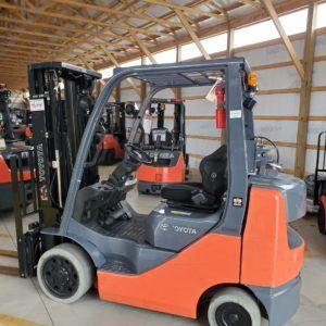 5,000 LBS Cap. LP <br>Cushion Forklift<br>2014<br>ID#: E005665