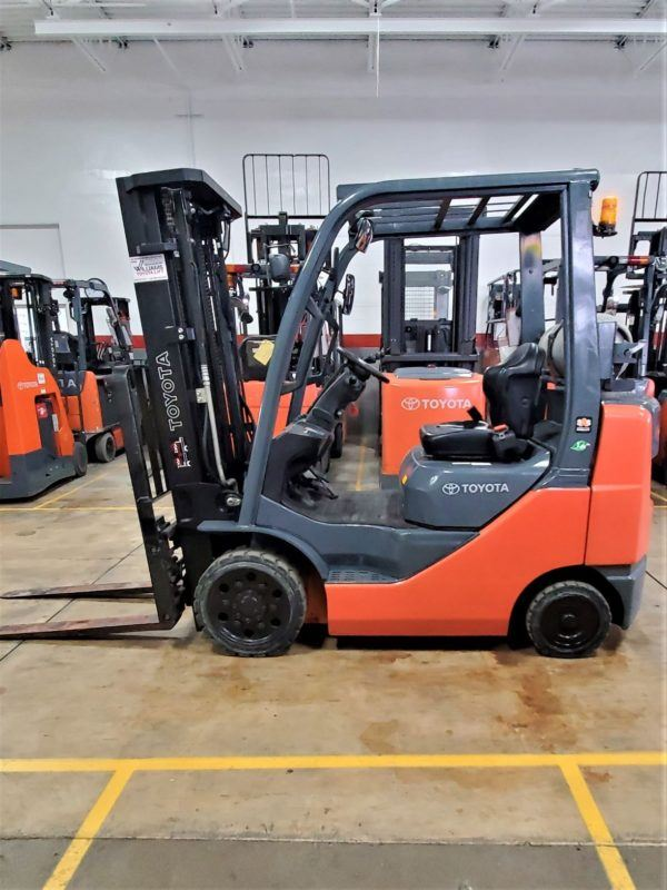 5,000 LBS Cap. LP<br>Cushion Forklift<br>2014<br>ID#: E000697