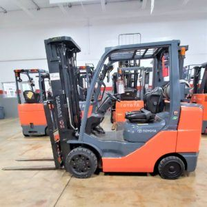 6,500 LBS Cap. LP<br>Cushion Forklift<br>2014<br>ID#: E008840