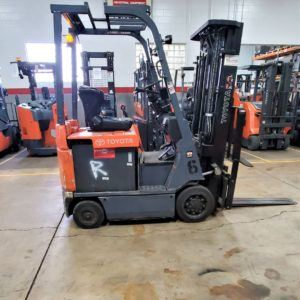 3,000 LBS Cap. Electric <br>Cushion Forklift<br>2013<br>ID#: 6700