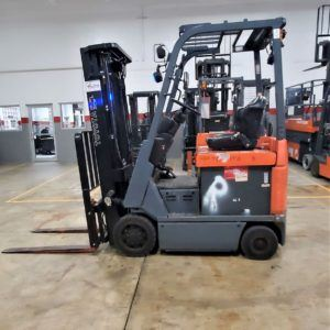 3,500 LBS Cap. Electric<br>Cushion Forklift<br>2015<br>ID#: E001944
