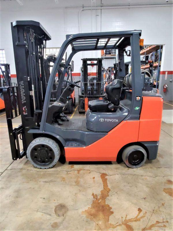 6,500 LBS Cap. LP<br>Cushion Forklift<br>2015<br>ID#: E008858