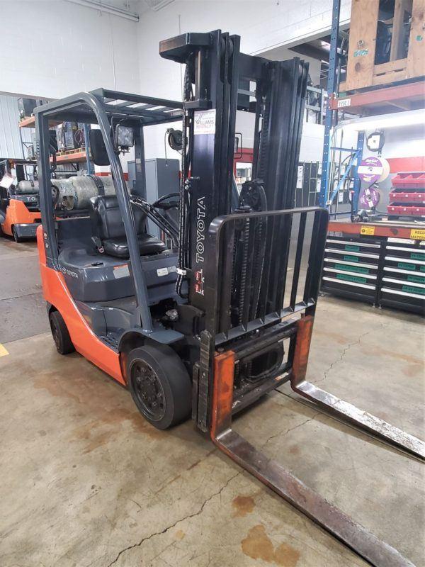 5,000 LBS Cap. LP<br>Cushion Forklift<br>2014<br>ID#: E000790
