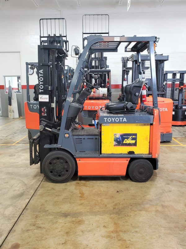 5,000 LBS Cap. Electric<br>Cushion Forklift<br>2018<br>ID#: E004845
