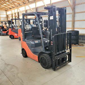 5,000 LBS Cap. LP<br>Cushion Forklift<br>2014<br>ID#: E000677